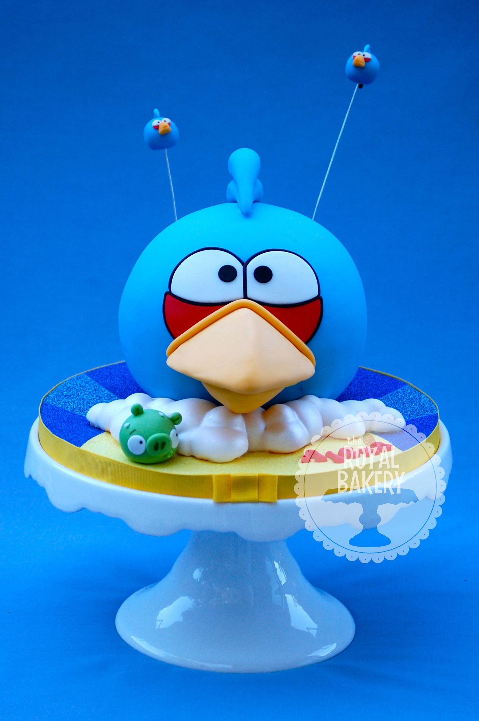 The Royal Bakery - Blue Angry Bird Cake