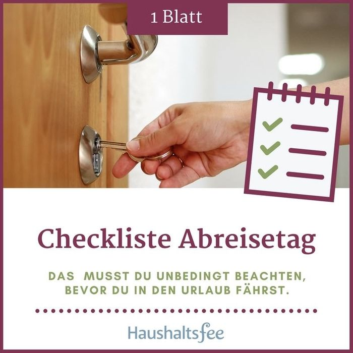 diese checkliste hilft dabei kurz vor der abfahrt in die ferien noch mal zu berpr fen ob du. Black Bedroom Furniture Sets. Home Design Ideas
