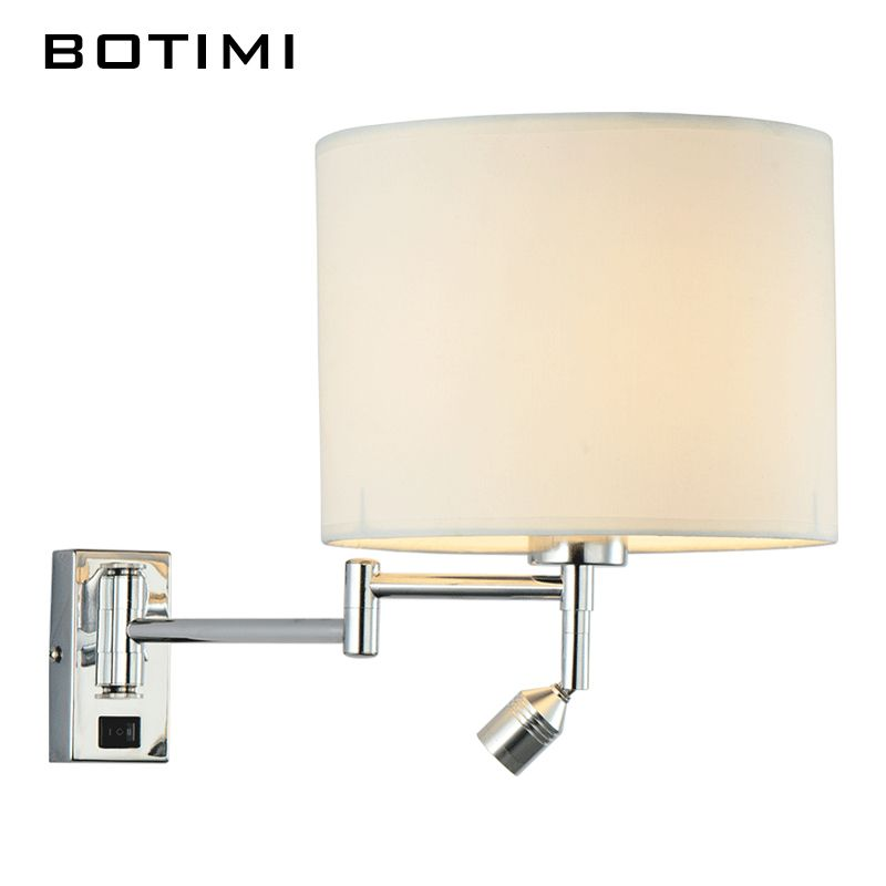 BOTIMI LED Bedside Wall Lamp For Living Room Applique Murale