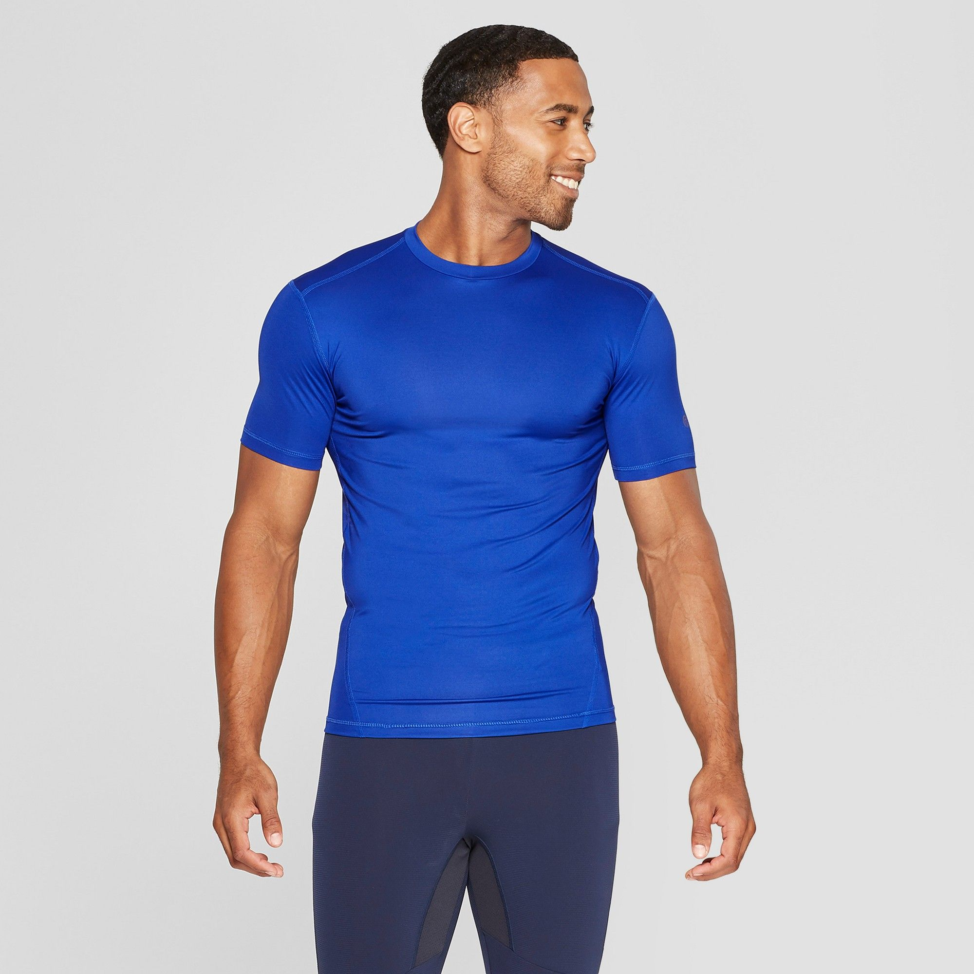 Men s Fitted Short Sleeve Compression T-Shirt - C9 Champion Omni Blue L c2738187d