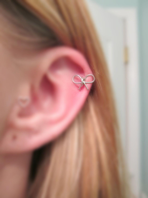 Bow Cartilage Earring 20 Gauge Haileys Wish List Pinterest