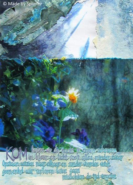 'Kom' ansichtkaart gemaakt door Saskia Splinter #postcard #art #calligraphy #ansichtkaart #flower