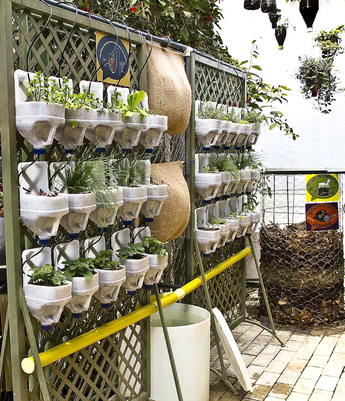 Jardin vertical plantas aromaticas buscar con google para mi casa pinterest gardens and - Jardin verticale ...