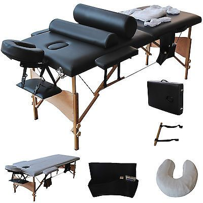 84 L Massage Table Portable Facial Spa Bed W Sheet Cradle Cover 2 Pillows Hanger Massage Table Massage Tables Portable Spa