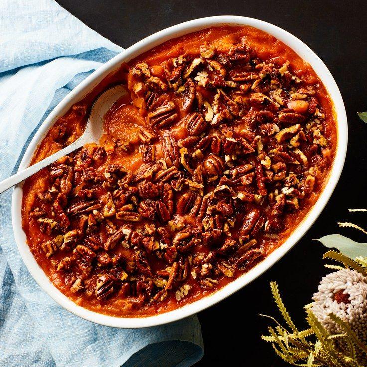3-Ingredient Sweet Potato Casserole With Maple Pecans Recipe