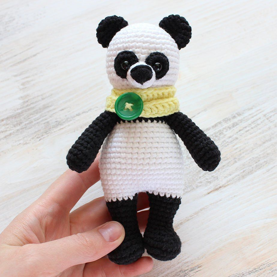 Crochet Cuddle Me Panda - Patrón de amigurumi gratis | tejido ...