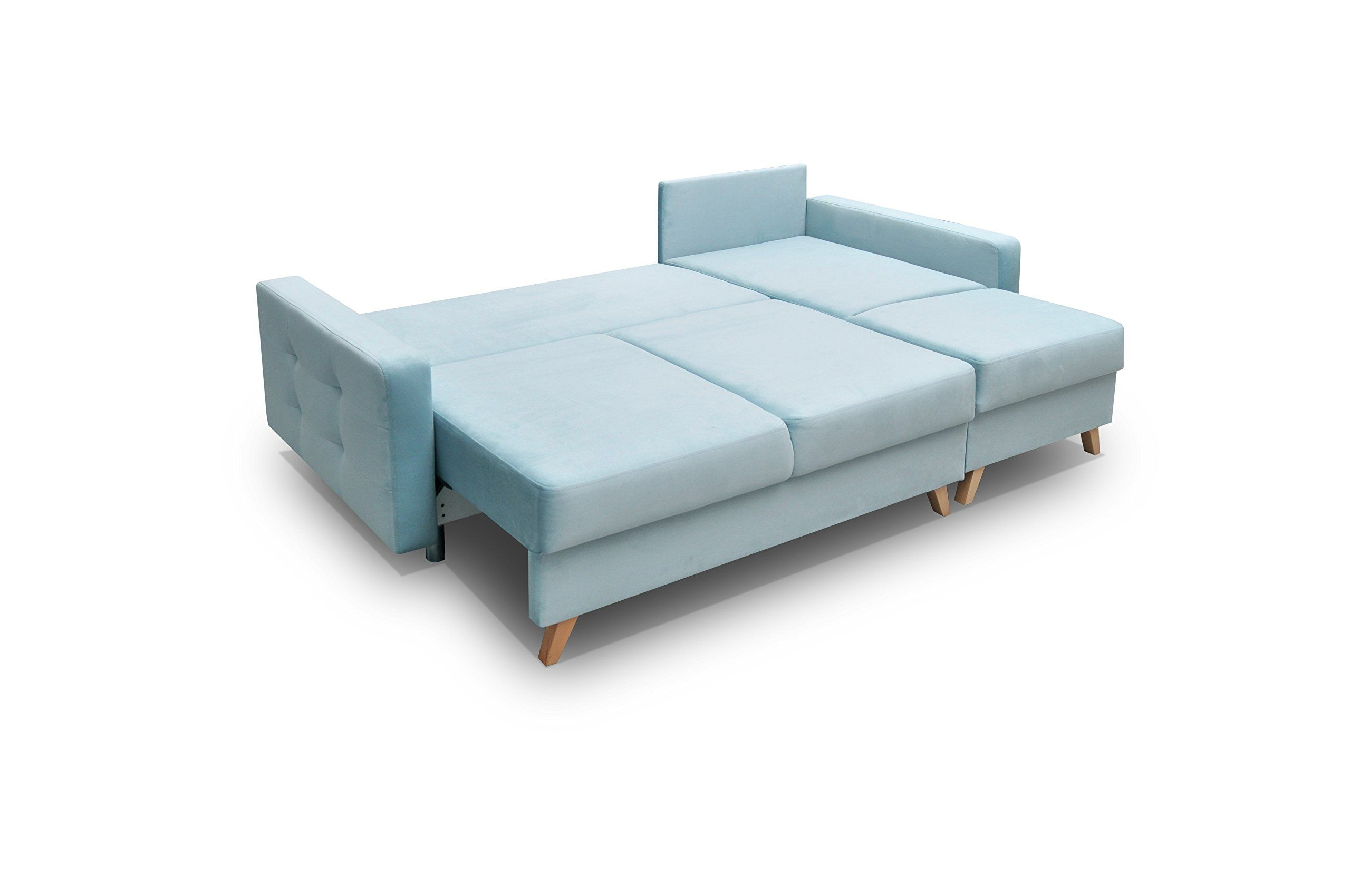 Meble Furniture And Rugs Vegas Futon Sectional Sofa Bed Queen Sleeper With Storage Blue Find Out More At The Futon Sectional Sofa Bed Queen Sectional Sofa