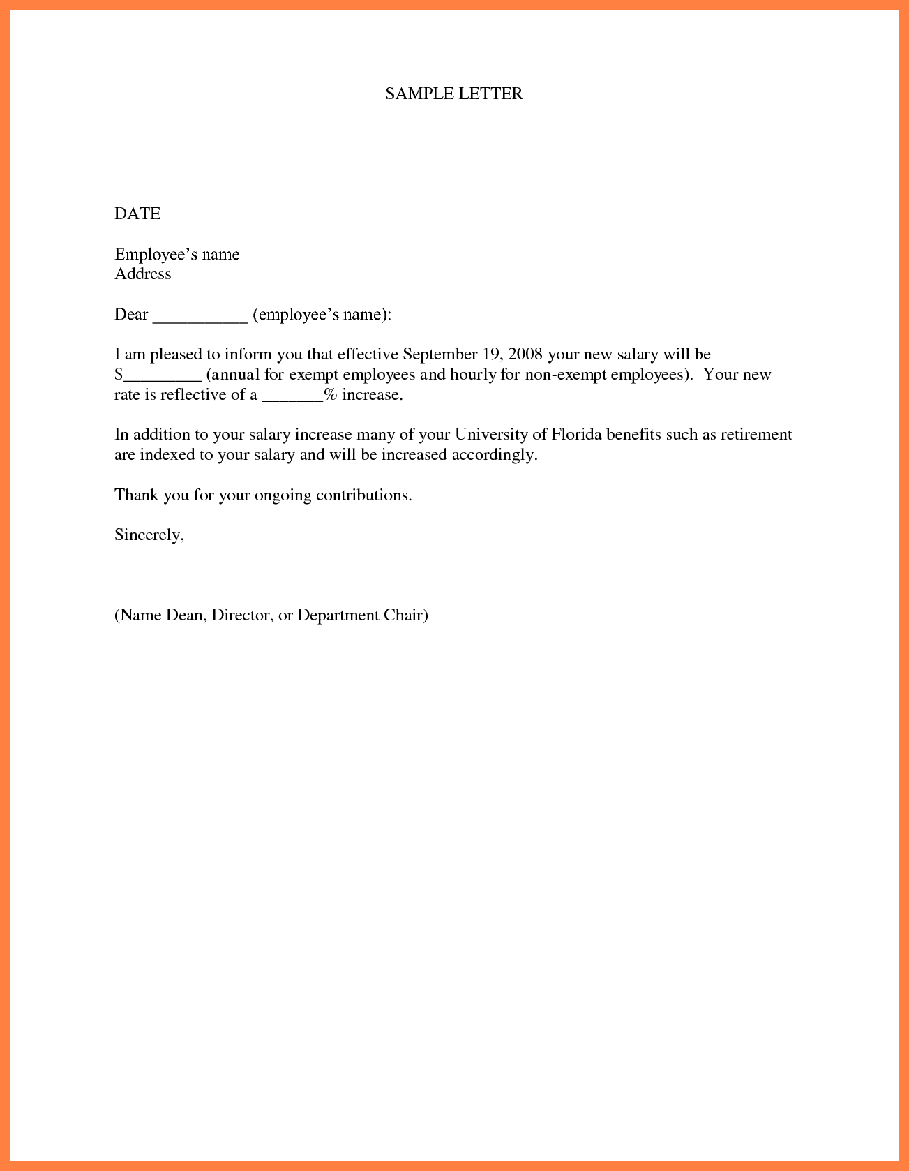 Image result for yearly salary increment letter format in word image result for yearly salary increment letter format in word thecheapjerseys Choice Image