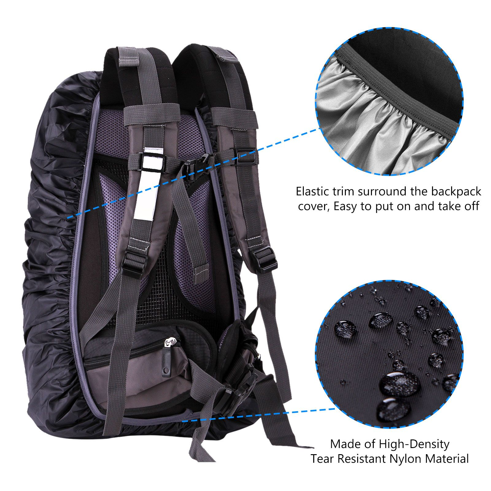 Waterproof Outdoor PVC Adjustable Shoulder Strap Replacement for Backpack LB