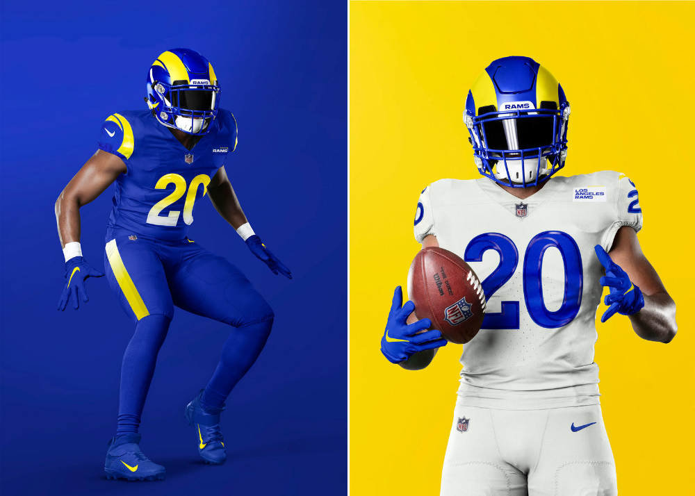 These Los Angeles Rams Uniforms Introduce A New Identity In 2020 Los Angeles Rams Uniforms Football Outfits Los Angeles Rams