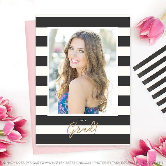 Floral Watercolor Graduation Announcement Template Elegan