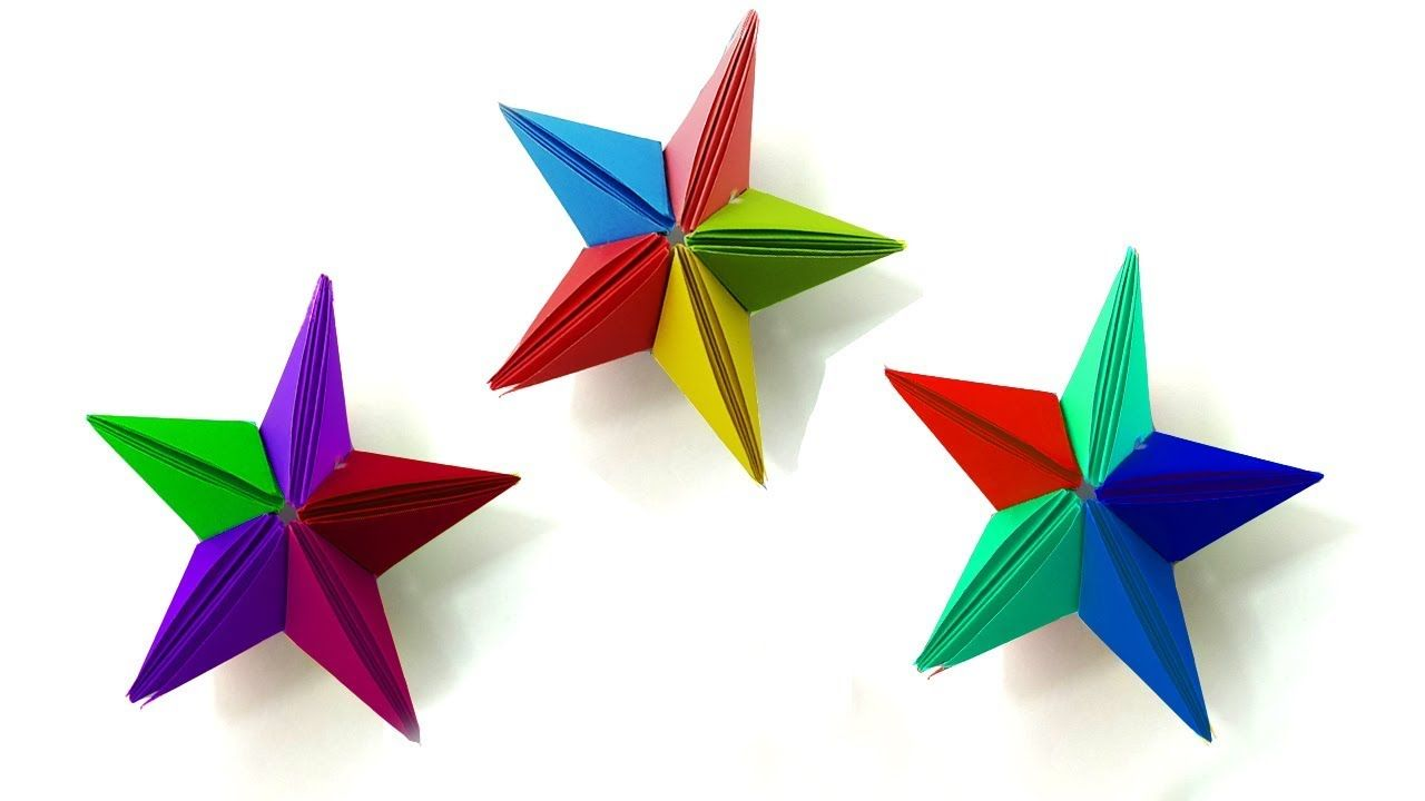 art and craft projects ideas: how to make origami stars | 720x1280