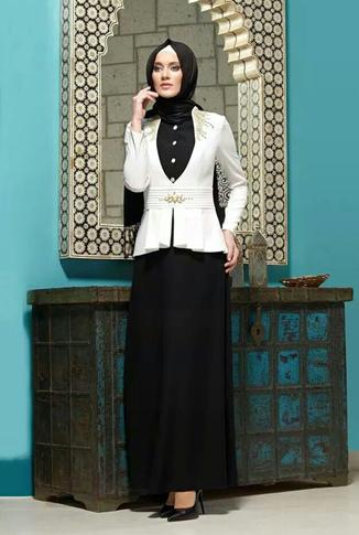 31 Koleksi Baju Muslim Modern Bentuk Dress Untuk Wanita Karir