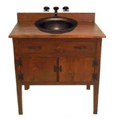 Antique furniture as a vanity. I need this in my bathroom ...