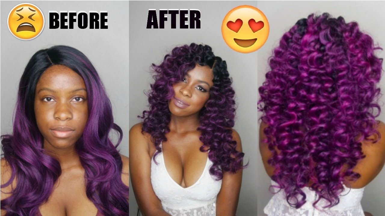 How To Curl Synthetic Hair Wig Transformation Wig Hairstyles Synthetic Hair Extensions Hair Beauty