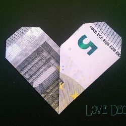Geldschein falten Herz