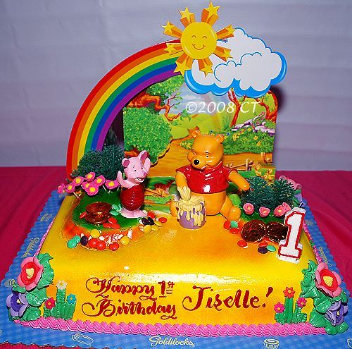 Tremendous Winnie The Pooh Birthday Cake From Goldilocks For First Cakepins Funny Birthday Cards Online Alyptdamsfinfo