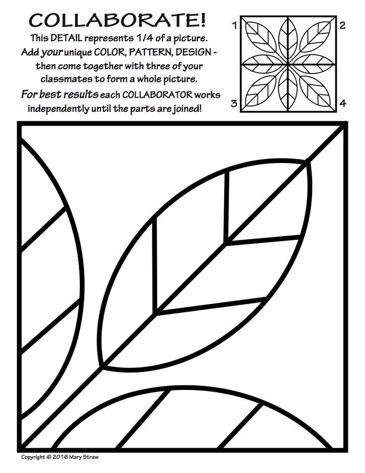 Symmetry ART Activity 5 Free Coloring Pages Art for