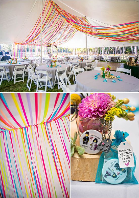 Outdoor Wedding With Bright Color Palette Decor
