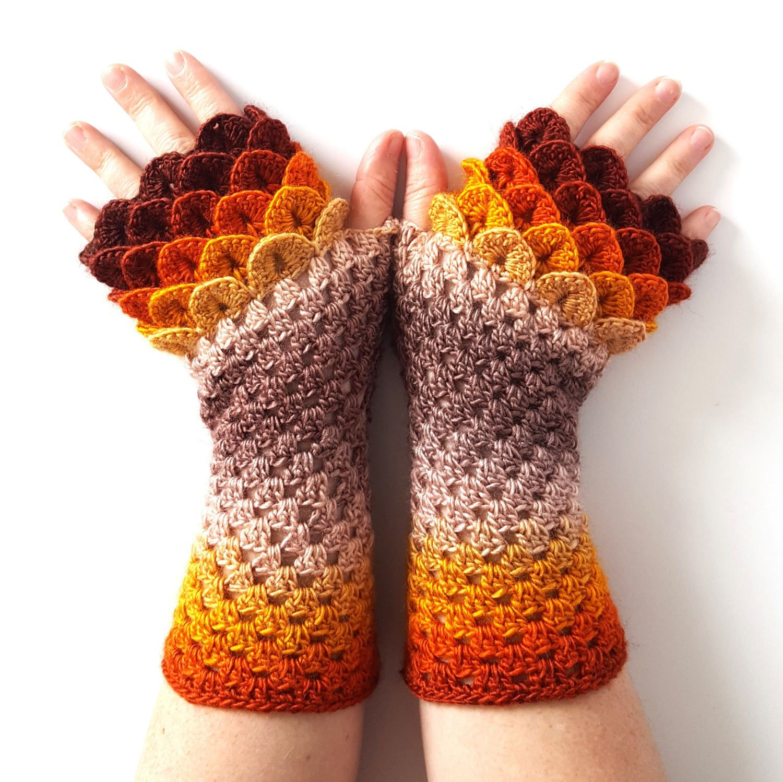 Driving texting gloves - Ooak Dragon Gloves Fingerless Gloves Womens Gloves Winter Gloves Handmade Wrist Warmers Arm Warmers Texting Gloves