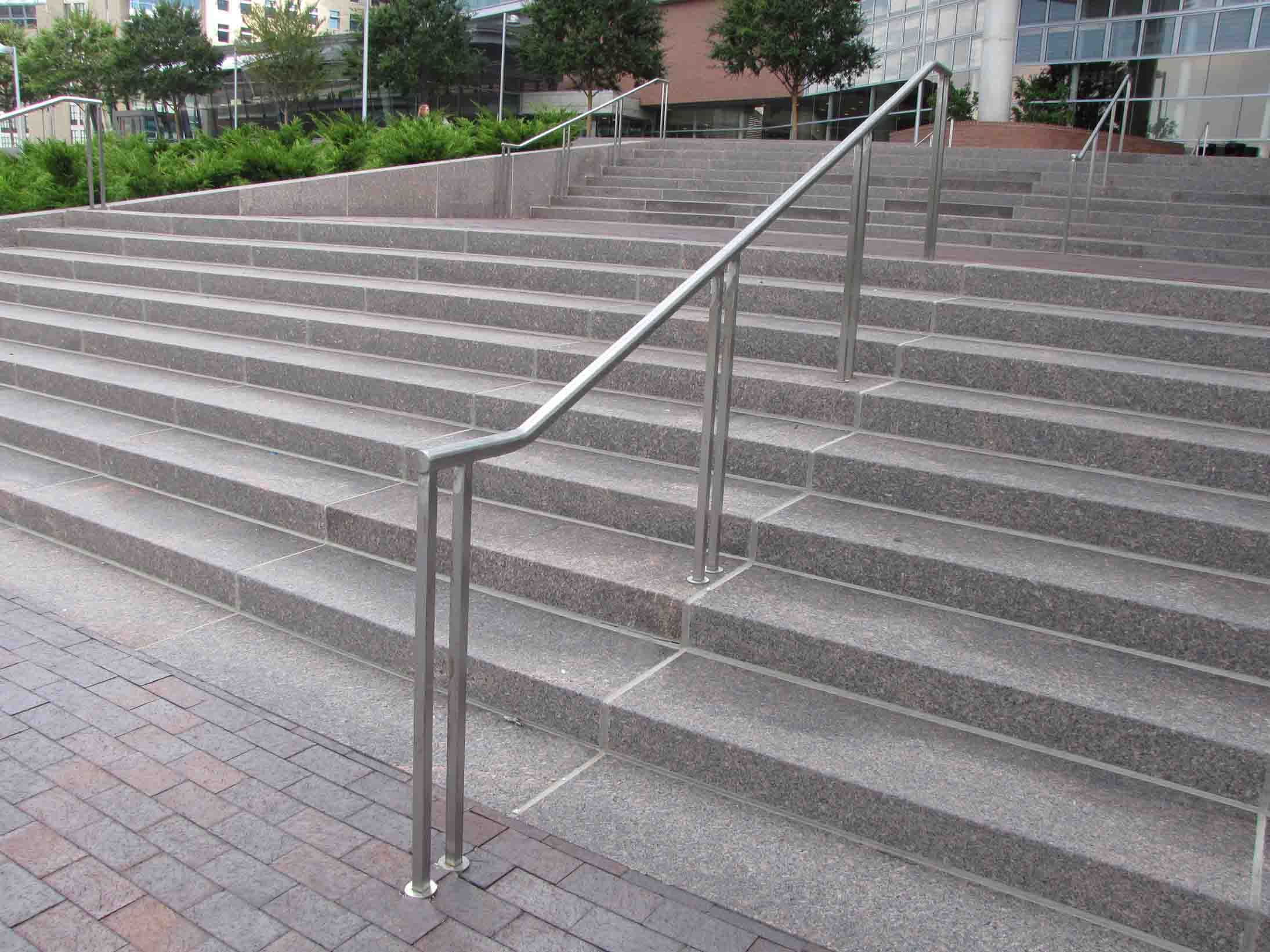 Handrails For Outside Steps Railings For Stairs Exterior | Outside Metal Stair Railing | Steel | Concrete | Steel Handrail | Porch | Outdoor Stair