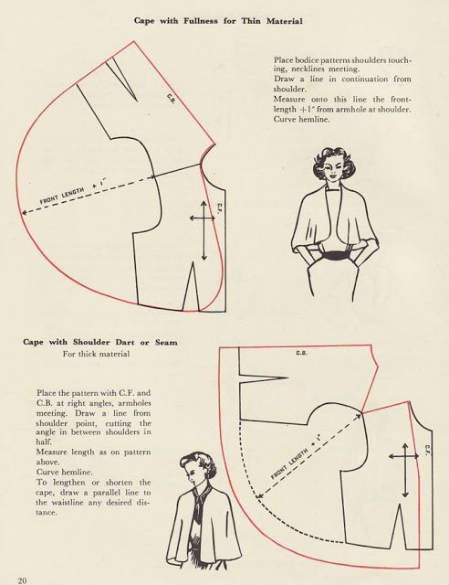 How To Make A Cape Capelet Sewing Pinterest Patterns Cape