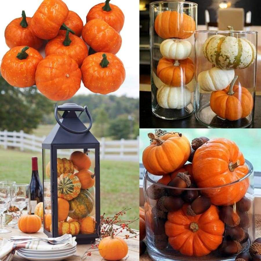 Foam Mini Pumpkin - 16 Pieces images