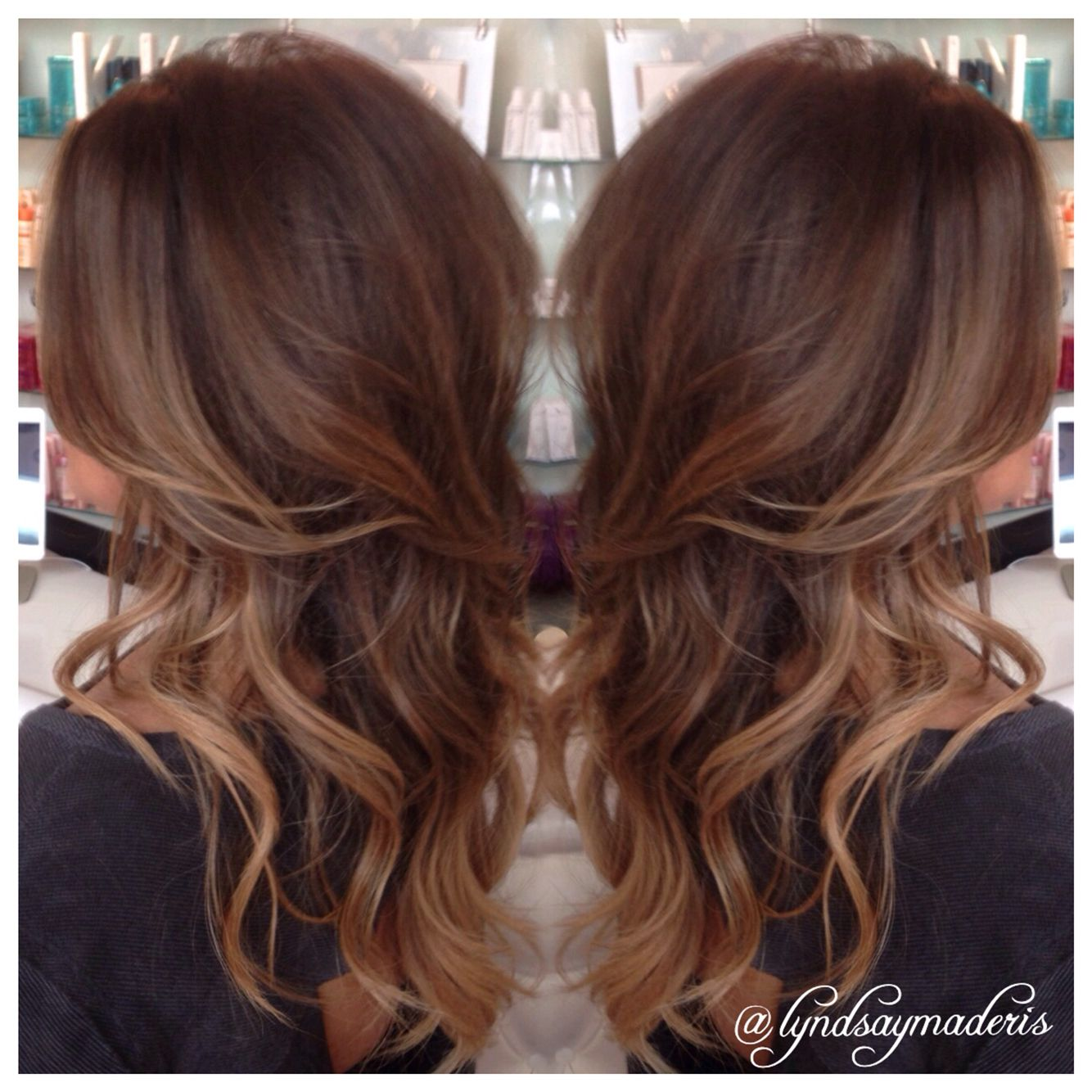 Balayage Carmel Hair Painting And Added Volume With Great Lengths