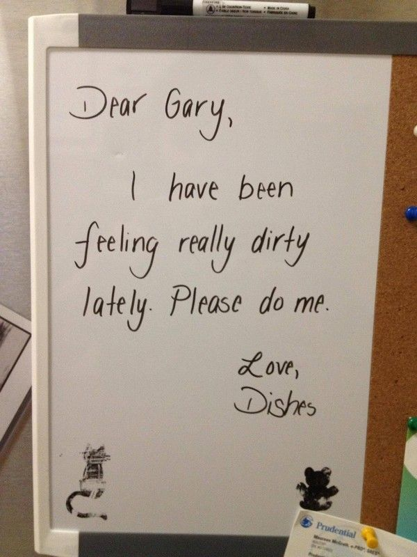 "Celebrate ""Dirty Dishes Day"" by leaving someone you know a note!"