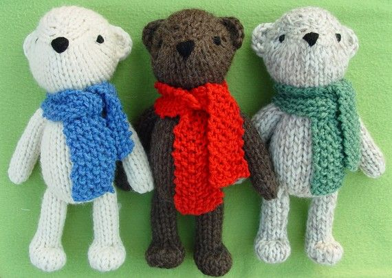 Theodore The Teddy Bear Knitting Pattern Pdf Von Yarnigans Auf Etsy