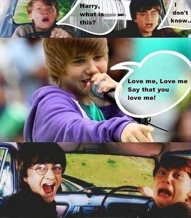Omg O Harry Really Hates Justin Lustig Humor Harry Potter Lustig Witze Lustig