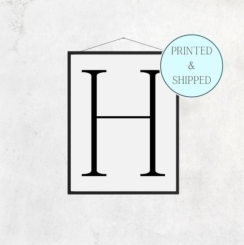 H Print Letter H Print Alphabet Print Letter Print Simple   Etsy