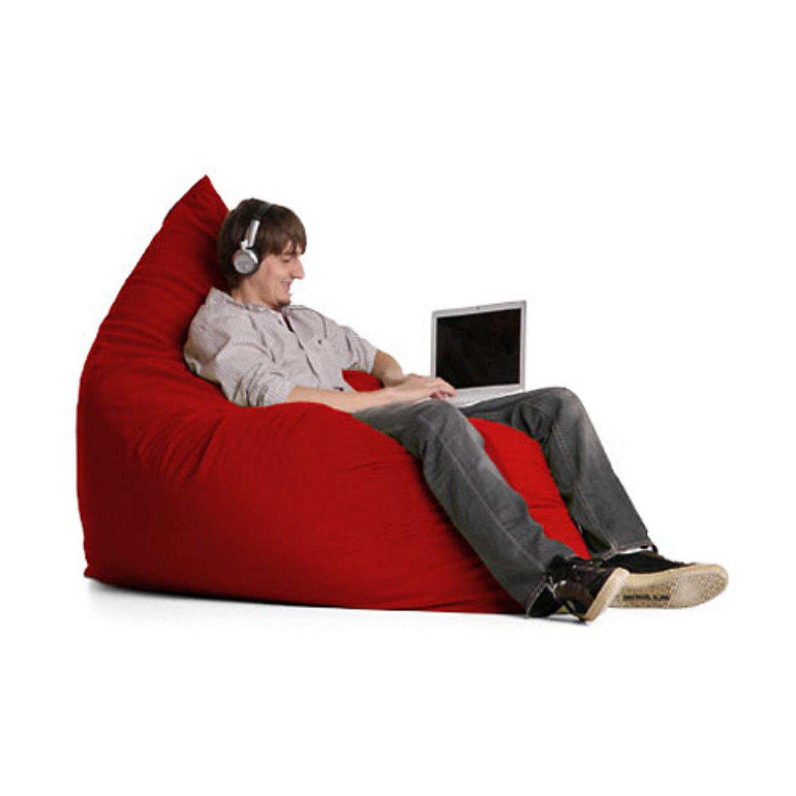 Super Jaxx Pillow Sac Medium Microsuede Foam Chair Chocolate In Forskolin Free Trial Chair Design Images Forskolin Free Trialorg