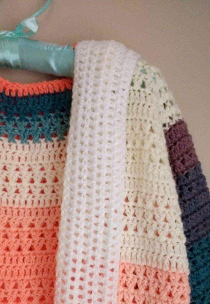 Crochet Colorblock Cardigan - Free Pattern by