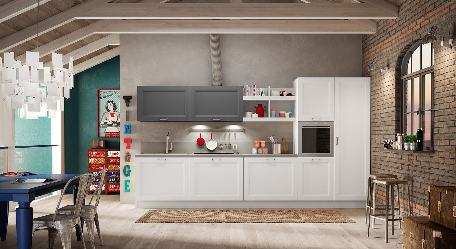 Cucine lineare tutto su una parete (o quasi Cucine