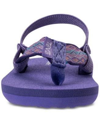 4dae777aa5c1 Teva Toddler Girls  Mush Ii Flip-Flop Sandals from Finish Line - Purple 10