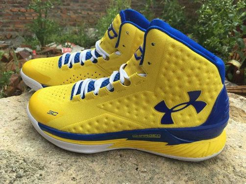 Under Armour Curry One 1 Golden State Warriors Home Yellow Royal Blue 609e03fee289
