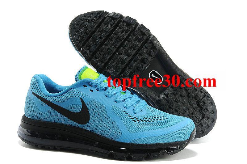 topfree30.com for nikes 50% OFF - Mens Nike Air Max 2014 Blue Black Shoes