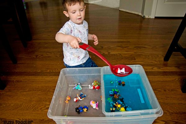 Paw Patrol Search and Rescue Sensory Bin - Sensory bins, Busy toddler, Paw patrol birthday party, Paw patrol, Easy indoor activities, Paw patrol birthday - Is your toddler an Adventure Bay enthusiast  Try making a Paw Patrol Search and Rescue sensory bin  A fun easy indoor activity that's puptastic!