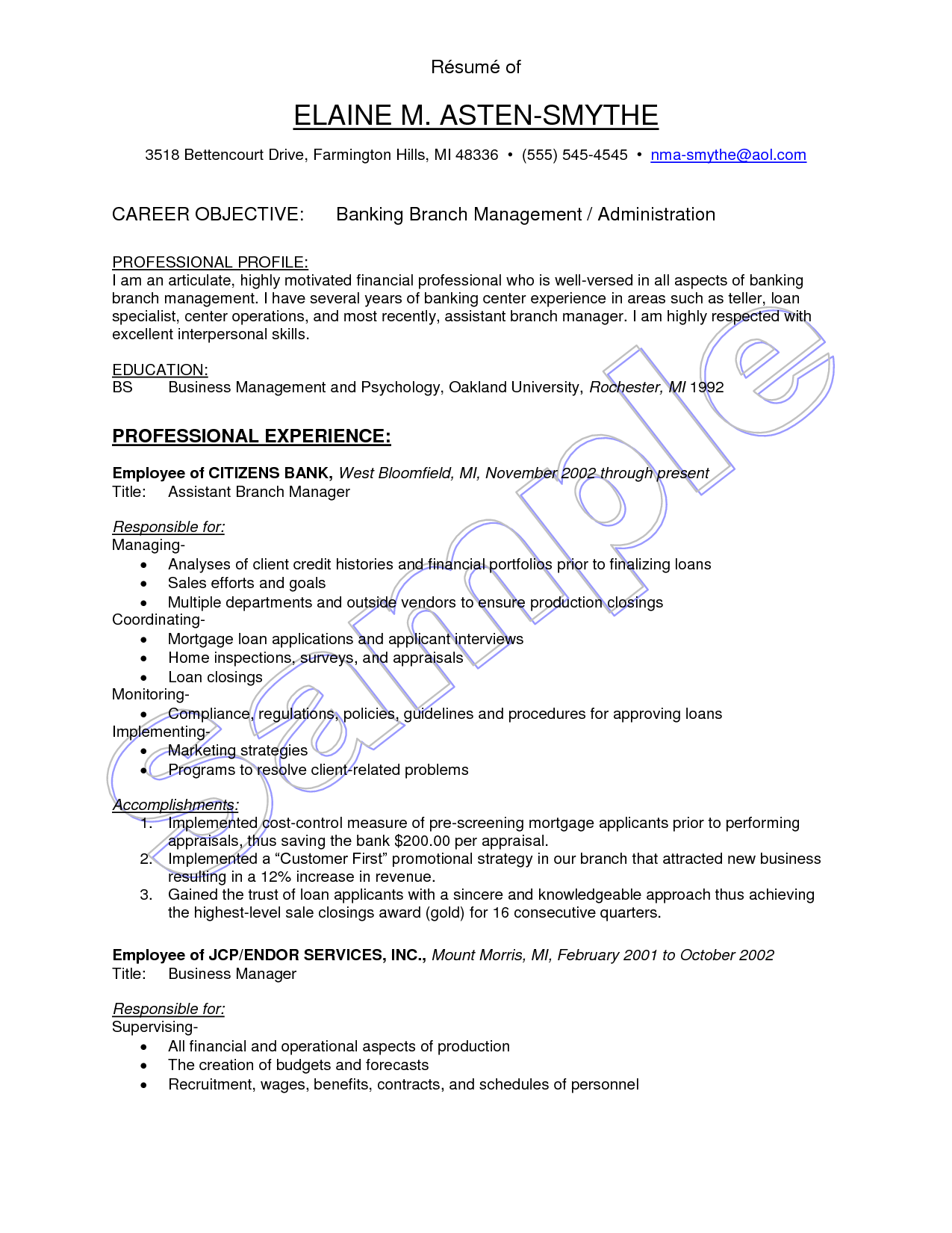 Blood Bank Manager Sample Resume Phlebotomist Samples Supervisor