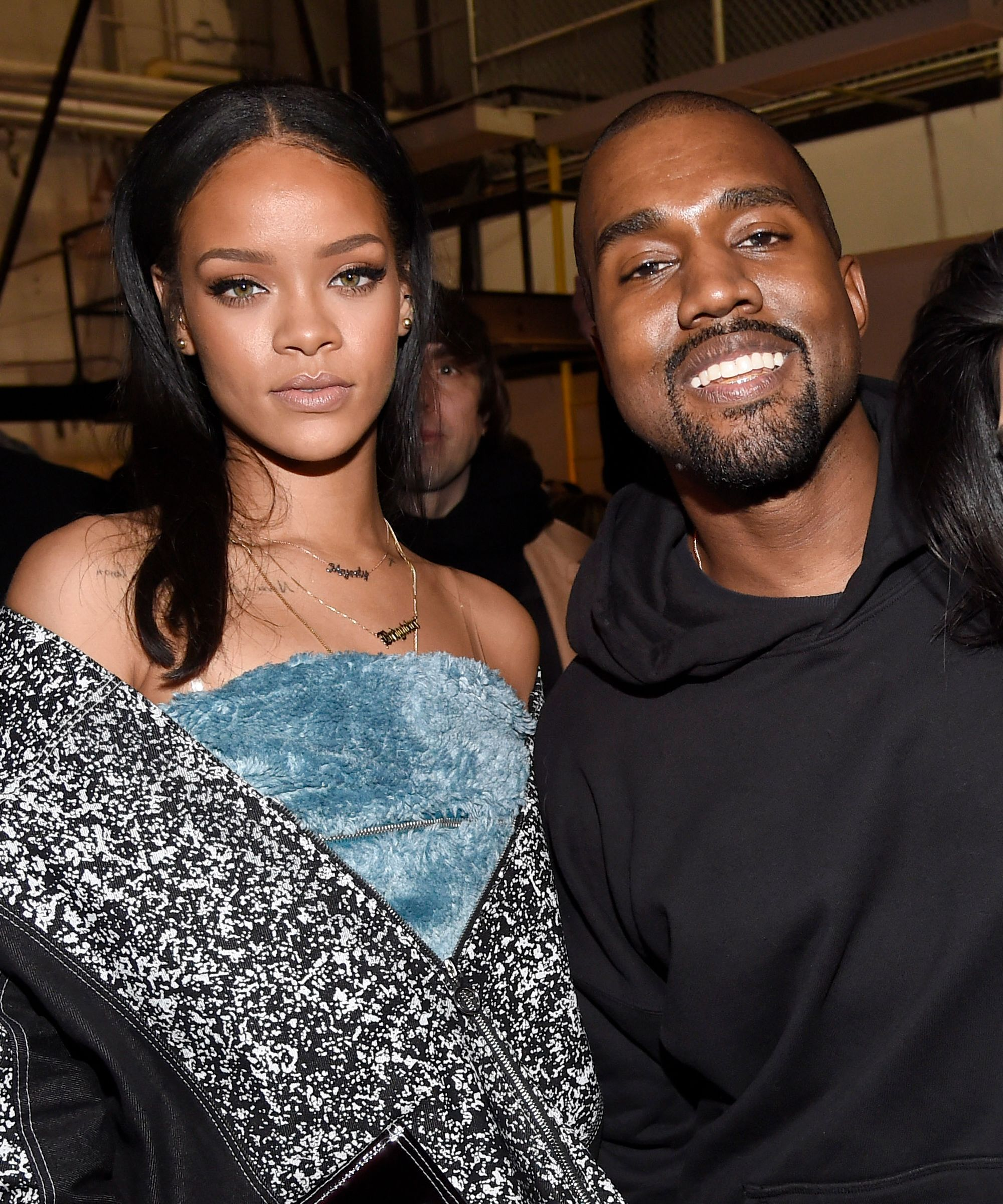 Rihanna Drake More Unfollow Kanye West After His Maga Tweets Rihanna And Drake Kanye West Smiling Rihanna