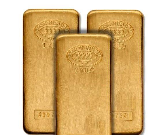Johnson Matthey 1 Kilo 9999 Pure Gold Bullion Bars Gold Bullion Gold Bullion Bars Gold Bar
