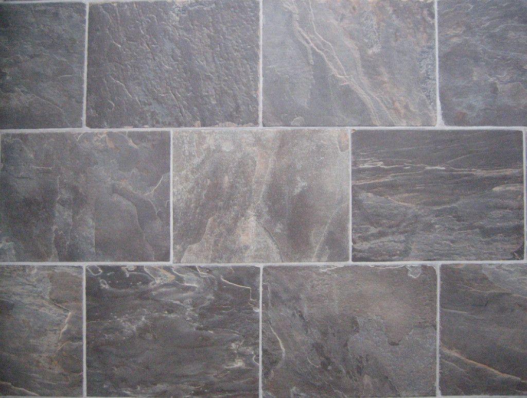 Natural Grey Big Rectangle Bathroom Ceramic Floor Tiles Brilliant