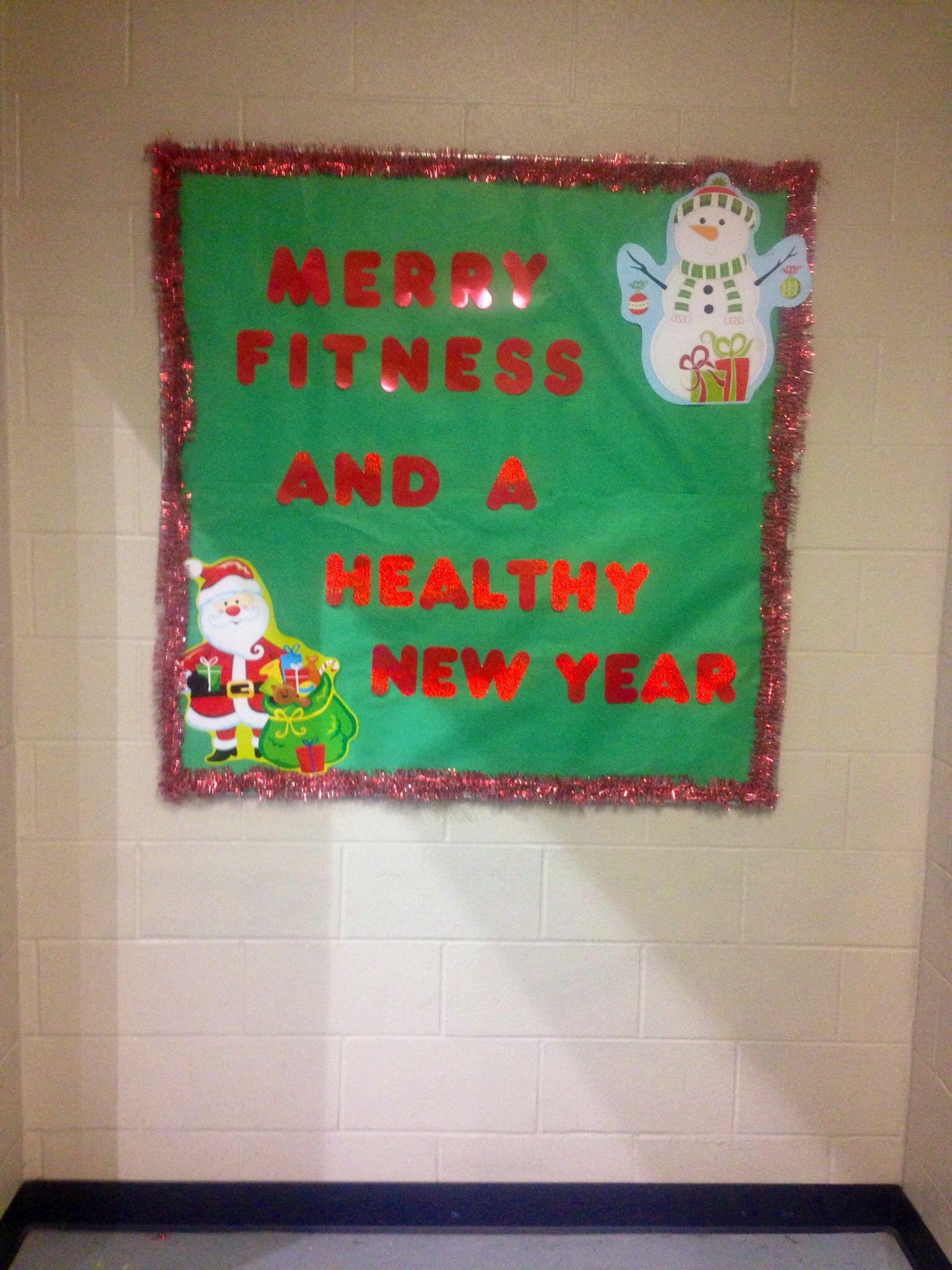 Classroom Pe Ideas : Physical education christmas bulletin board school ideas