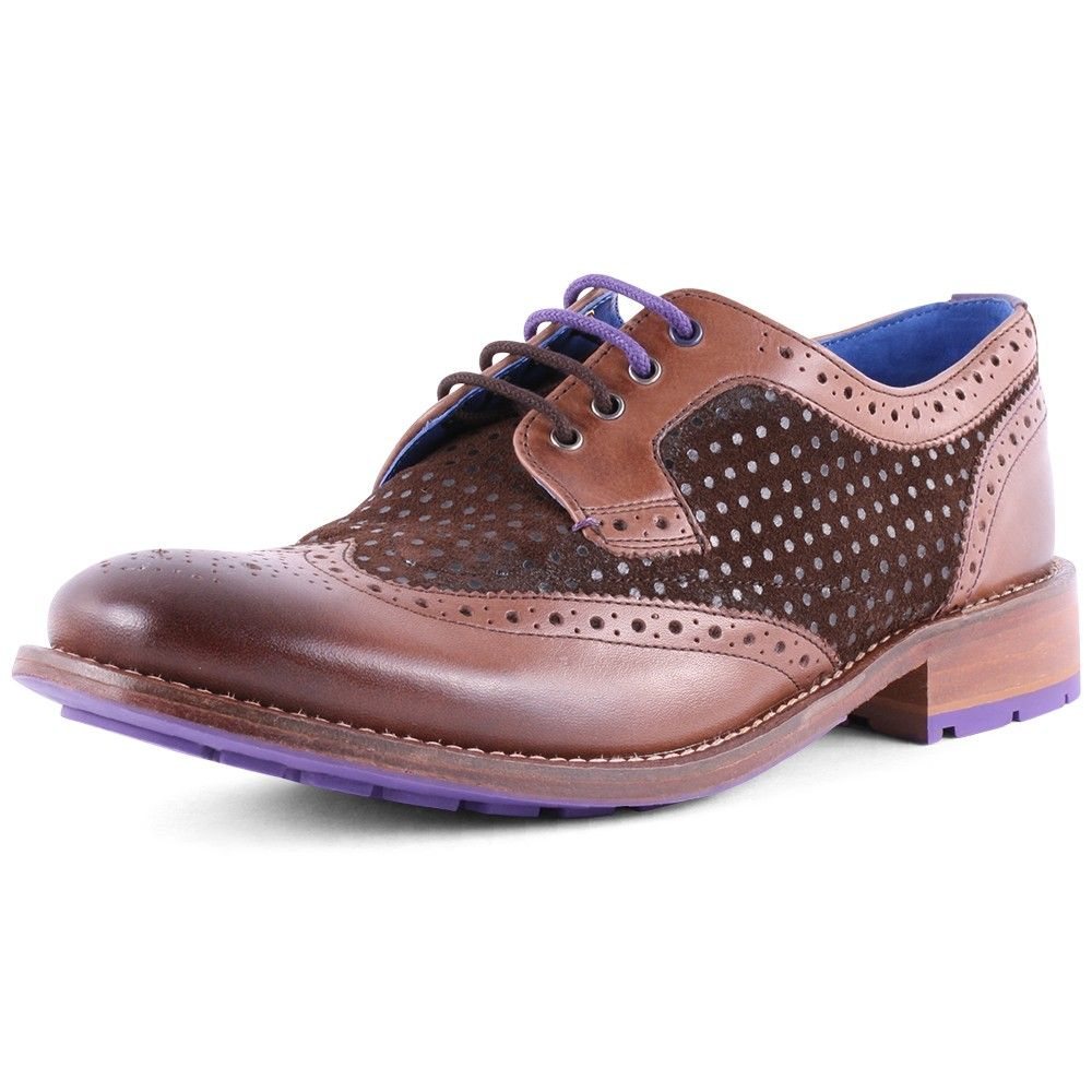 166745ce132a0c Cassius 3 mens leather brogues in brown by Ted Baker