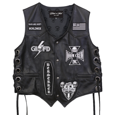 Bls Official Leather Vest Black Label Society Black Leather Vest Black Label