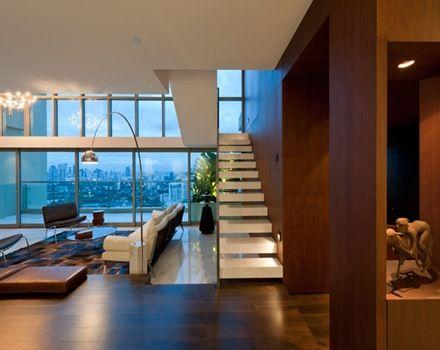 Departamento d plex arquitectura y decoraci n de lujo en for Decoracion de departamentos minimalistas