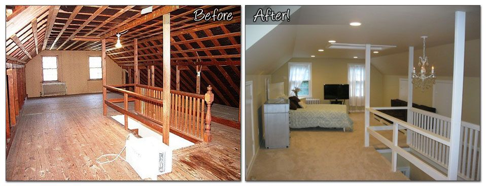 Attic Makeovers Before And After Finished Attic Before And After