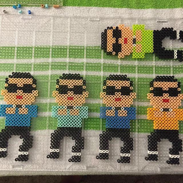 Instagram media by perlerbeadjake - Op op op op... Oppa Gangnam Style! Making about 20 of these. Hope they sell LOL #EUCON #eugenecomiccon