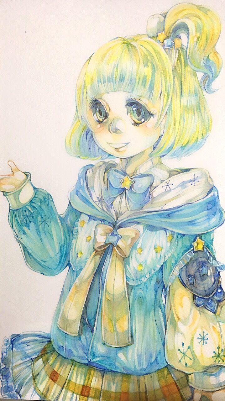 色鉛筆 女の子 イラスト イラスト 色鉛筆 女の子イラスト